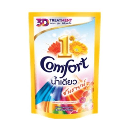 unilever คอมฟอร์ทอัลตร้า 12X600 มล น้ำเดียว 600 มล.  สีทอง