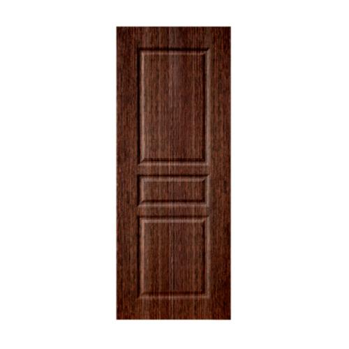 BWOOD ประตู VINYL  Bwood  ECO-Series LBEN002 90x200 BROWN WENGE เจาะ LBEN002  สีน้ำตาลเข้ม