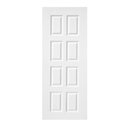 BWOOD  ประตูยูพีวีซี บานทึบ 8ฟัก Eco series ขนาด 80x200ซม.  (เจาะ) BENR003 (REVO)  สีขาว