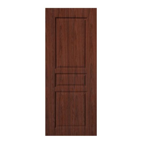 BWOOD  ประตู VINYL บานทึบลูกฟัก Eco series ขนาด 80x200ซม. BROWN WENGE (เจาะ)  LBENR002 (REVO)
