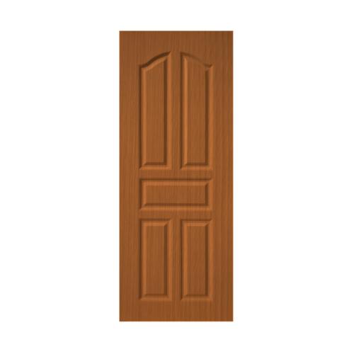 BWOOD  ประตู VINYL บานทึบ 5 ฟัก Eco series ขนาด 80x200ซม. ORANGE TEAK (ไม่เจาะ) LBENR001  REVO