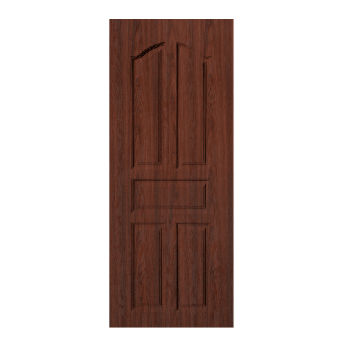 BWOOD  ประตู VINYL บานทึบ 5ฟัก  Eco series ขนาด90x200ซม. BROWN WENGE (ไม่เจาะ) LBENR001 REVO