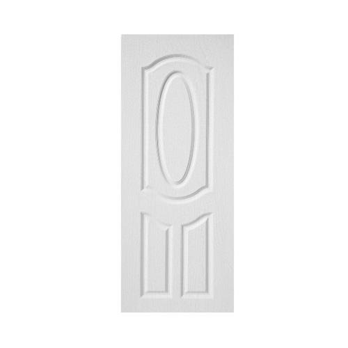 BWOOD ประตูปิดผิว VINYL บานทึบ 3ฟักโค้ง Bwood Eco series ขนาด 90x200ซม. (ไม่เจาะ)  BENR004 (REVO)  สีขาว