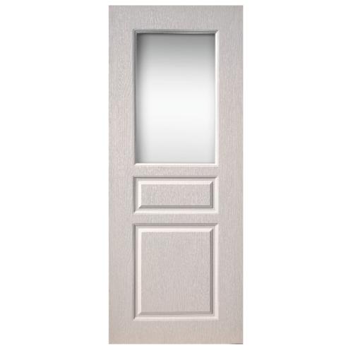 BWOOD  ประตูยูพีวีซี ขนาด  90x200ซม. (เจาะรูลูกบิด)  REVO ECO SERIES BEGR002   สีขาว