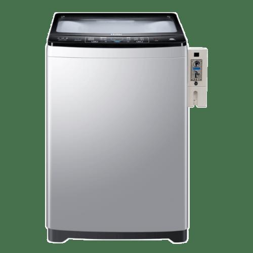 HAIER เครื่องซักผ้าหยอดเหรียญฝาบน ขนาด 10 Kg. HWM100-1826T CB สีซิลเวอร์ ซิลเวอร์