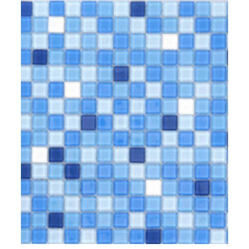 Cotto โมเสค 12x12 กลาส เบลนด์ 05   A. - สีฟ้า