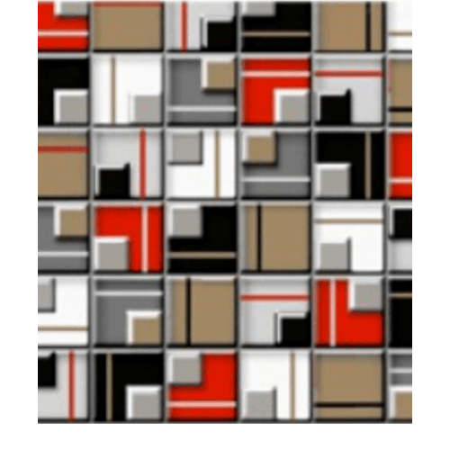 Cotto โมเสค 12x12 ฟิวเจอร์ A. สีแดง