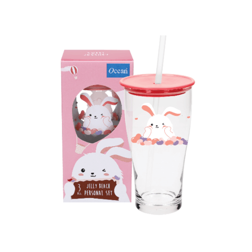 Ocean ชุดแก้วเดียวเจลลี่ บีช สีชมพู (3ชิ้น) Jelly Pink Set (3 pcs)