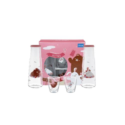 Ocean ชุดดูโอเซต เจลลี่ บีช สีชมพู (6ชิ้น) Jelly Duo  Pink Set (6 Pcs)