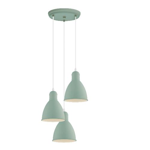 EGLO โคมไฟช่อ  PRIDDY-P E27 3x60W สีเขียว