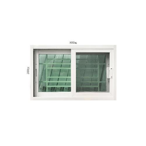 Wellingtan หน้าต่างอะลูมิเนียมบานเลื่อน SS ขนาด 80x50ซม. พร้อมเหล็กดัด +มุ้งลวด C5080BT สีขาว