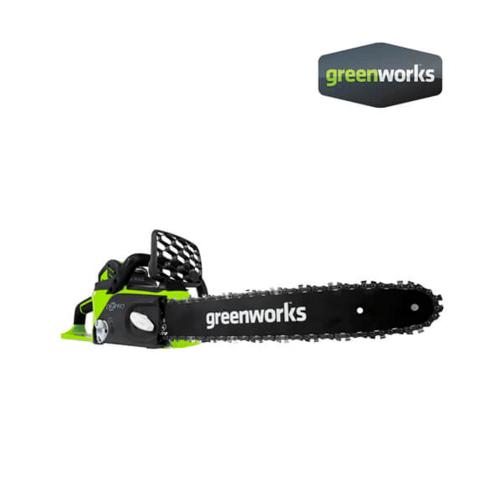 GREENWORKS  เลื่อยโซ่แบตเตอรี่  ขนาด 40V, กำลัง 0.9 แรงม้า, บาร์ 10 นิ้ว (เฉพาะตัวเครื่อง) สีเขียว