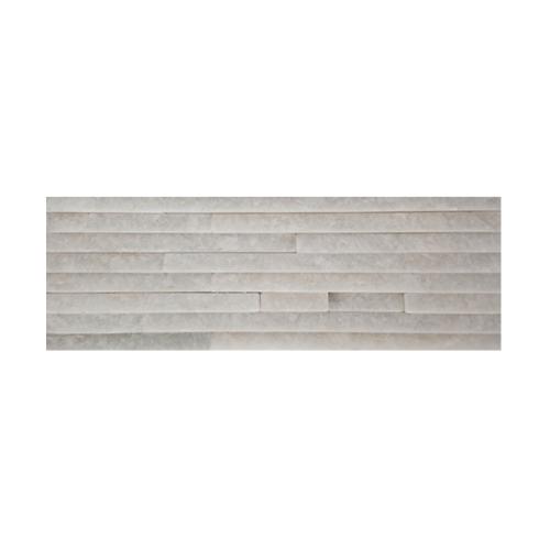 หินธรรมชาติ 10x30 สันหินกาบน้ำตก NSD-GSD-004-1030  สีขาว