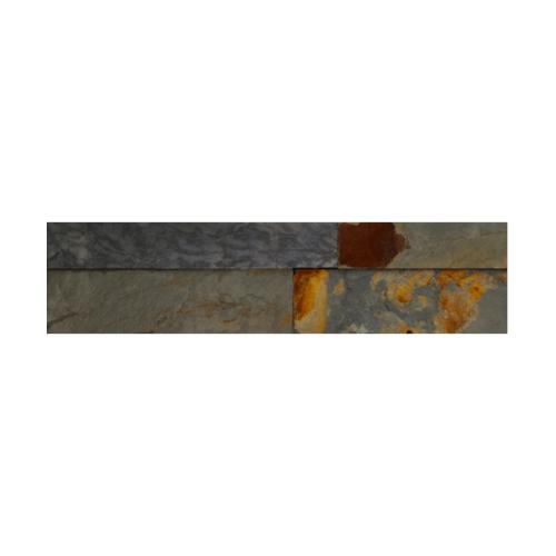 หินธรรมชาติ 7x30 หินกาบจิ๊กซอเขียวสนิม  NSD-GSE-005-0730