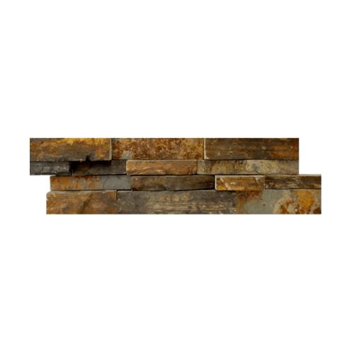 หินธรรมชาติ 15x60 หินกาบจิ๊กซอโกลเด้นทีค NSD-GSE-010-1560