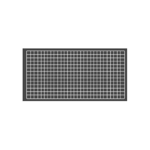 Delicato ตะแกรงชุบ ขนาด  50x100x1ซม. สีขาว