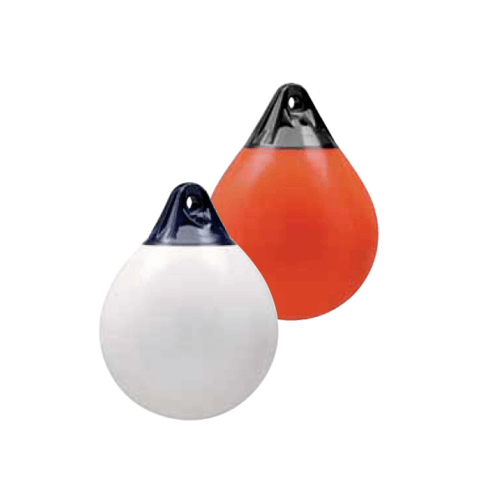 EVAL ลูกยางกันกระแทกข้างเรือ ทรงกลม 38x29.5cm A-1 สีส้ม-น้ำเงิน สีส้ม