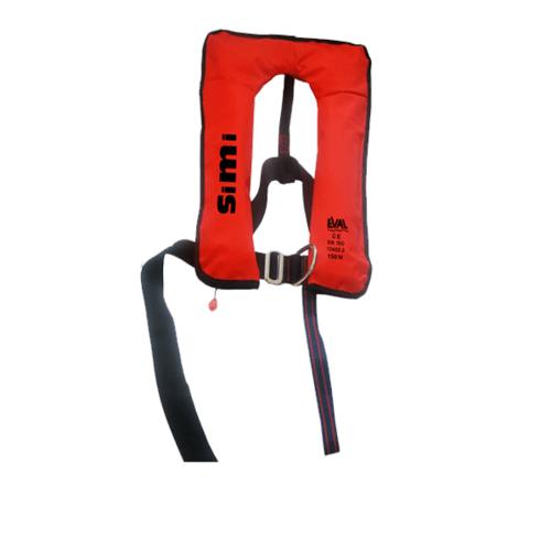 EVAL เสื้อชูชีพแบบพองลม Auto หัวเข็มขัดโลหะ (D ring) 04326-4 สีแดง