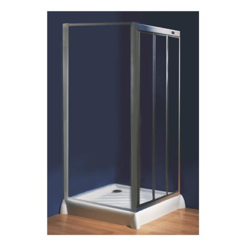I-SPA ตู้อาบน้ำแบบบานเลื่อน เปิดจากซ้ายไปขวา เฟรมสีขาว  ขนาด 90x90x185 ซม. SLIDE90LGWH สีขาว