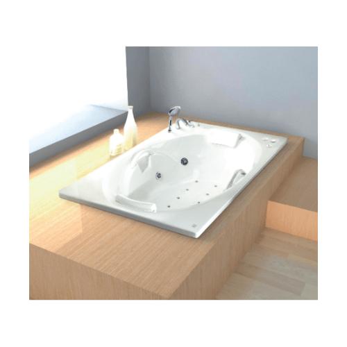 I-SPA อ่างอาบน้ำวน อัดอากาศ พร้อมก๊อก ขนาด 185x108x45 ซม. COLOGNE A  BD-COA01WAF(E)  สีขาว