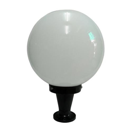 The Sun โคมไฟหัวเสา ถ้วย 12 นิ้ว แก้วกลม   ขามิเนียม PA12/1-B  สีดำ