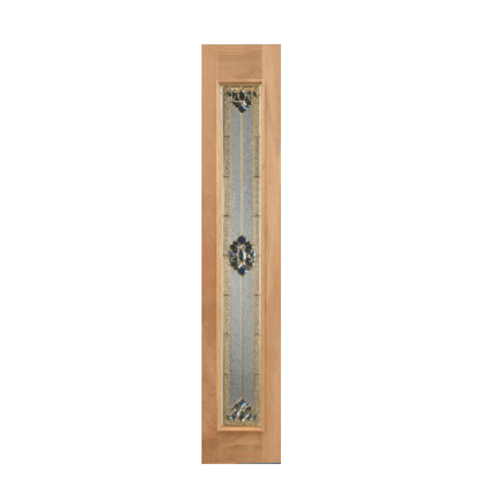 Masterdoors ประตูไม้เรดเมอร์รันตี ขนาด 40 x 245 cm. Jasmine-05 ธรรมชาติ