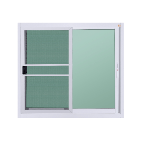 A-Plus หน้าต่างบานเลื่อนอลูมิเนียม SS ขนาด 1.20 x 1.08 ม.  Like-003 พร้อมมุ้ง สีขาว