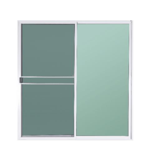 A-Plus ปะตูบานเลื่อนสลับ (พร้อมมุ้ง) ขนาด 200x205 cm. A-P/010 ขาว