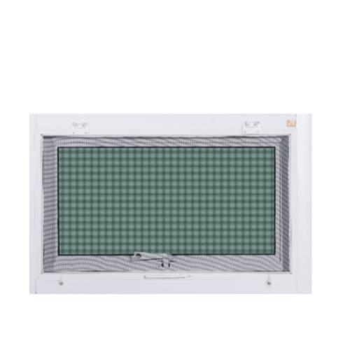 A-Plus หน้าต่างอลูมิเนียมบานกระทุ้ง ขนาด 80x50cm. พร้อมมุ้ง Like-023 สีขาว