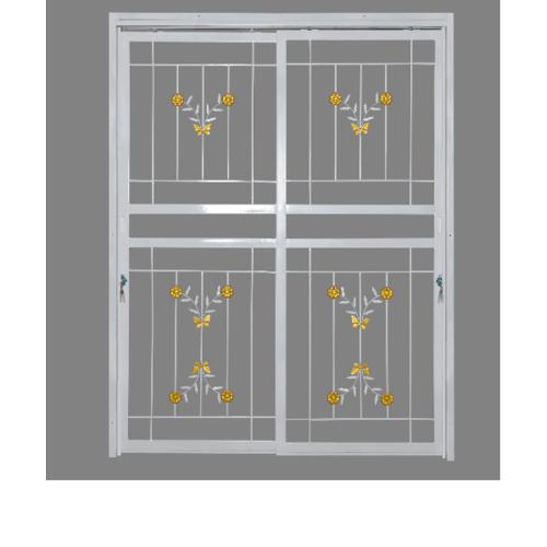 A-Plus ประตูเหล็กดัดลายดอกไม้จีน ขนาด 1.80 x 2.05 m  D1003