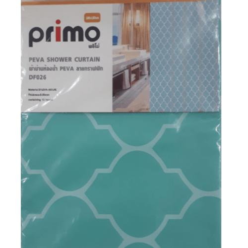 PRIMO ผ้าม่านห้องน้ำ PEVA ลายกราฟฟิก ขนาด 180x180ซม.  DF026