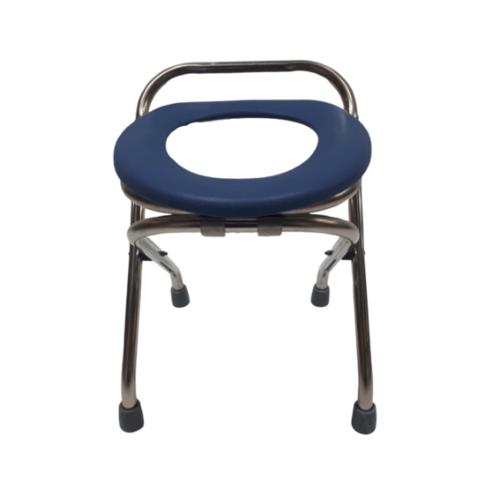 VERNO เก้าอี้นั่งขับถ่าย แบบพับได้ DS-6012 สีฟ้าเข้ม