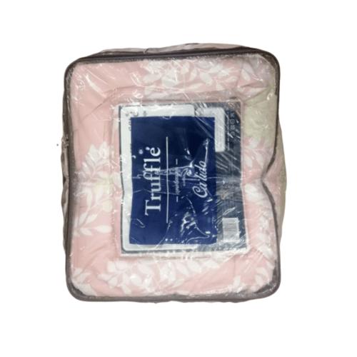 Truffle ชุดผ้าปูที่นอน 5ฟุต 5ชิ้น พร้อมปลอกผ้านวม  BD-63-2 สีชมพู
