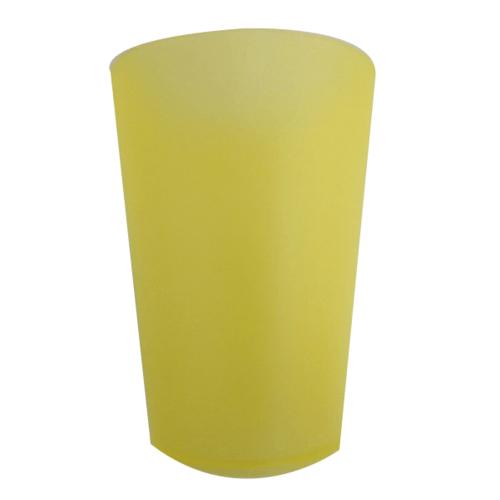 LUXUS ชุดแก้วพลาสติกสีเหลือง  ZS8808-YE 300ML.  สีเหลือง