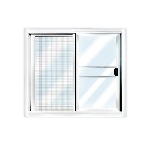 3G หน้าต่างบานเลื่อนอลูมิเนียม+มุ้ง  ขนาด 60x100 (2บาน) สีขาว