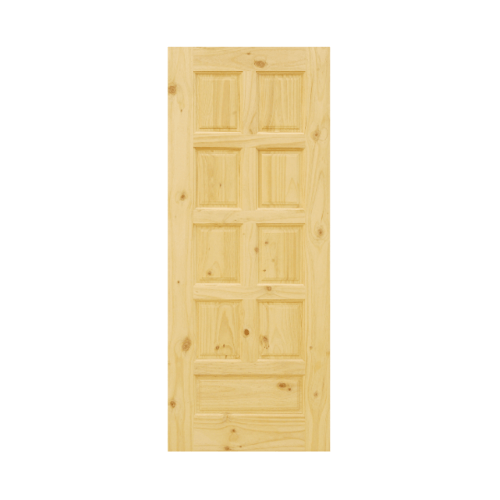 D2D ประตูไม้สนนิวซีแลนด์ ขนาด 80x200 ซม. Eco Pine-002 สีน้ำตาลอ่อน