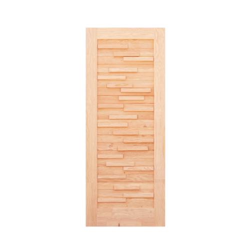 D2D ประตูไม้สนนิวซีแลนด์ ขนาด80x200 ซม. Eco Pine -030 สีน้ำตาลอ่อน