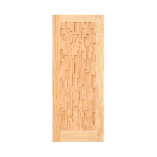 D2D ประตูไม้สนนิวซีแลนด์  ขนาด 80x200 cm. 505
