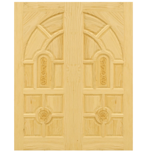 D2D ประตูไม้สนนิวซีแลนด์ ขนาด 80x240 cm. Eco Pine-005 สีน้ำตาลอ่อน