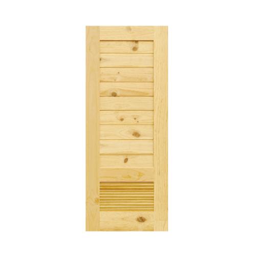 D2D ประตูไม้สนนิวซีแลนด์ ขนาด 70x200 cm. Eco Pine-043 ธรรมชาติ