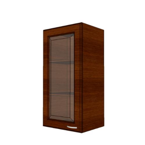 MJ ตู้แขวนบานกระจกตรงใส สีโอ๊ค W804GL-O
