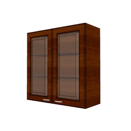 MJ ตู้แขวนบานกระจกตรงใส สีโอ๊ค/ W808GL-O