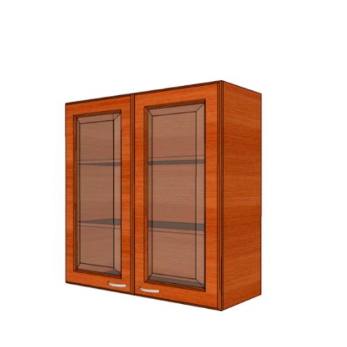 MJ ตู้แขวนบานกระจกตรงใส W808GL-CH