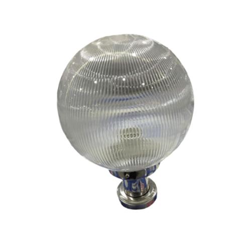V.E.G โคมไฟหัวเสาฐานสแตนเลส  แก้วลาย 8 นิ้ว 1035A-W