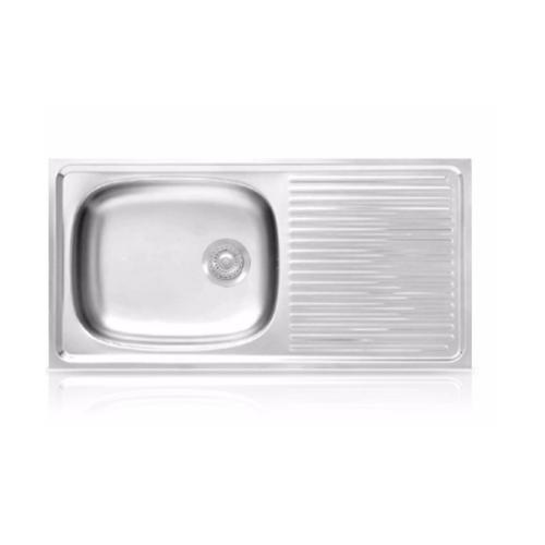 ADVANCE อ่างล้างจาน 1 หลุม 1 ที่พัก AV-100 MB สเตนเลส