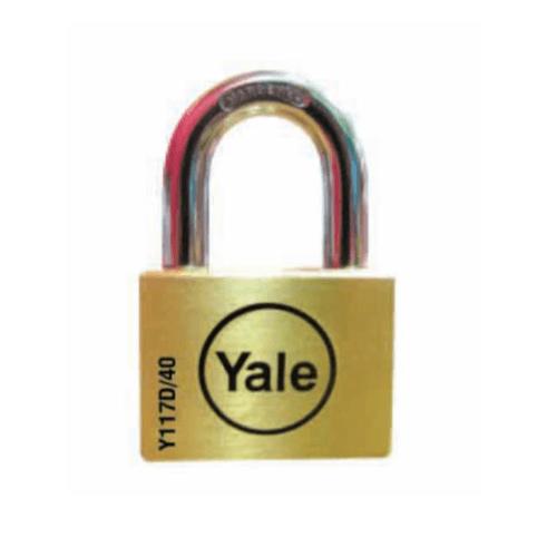 YALE กุญแจคล้องห่วงสั้น  ขนาด 40 มม. Y117D/40/121/1 ทองเหลือง