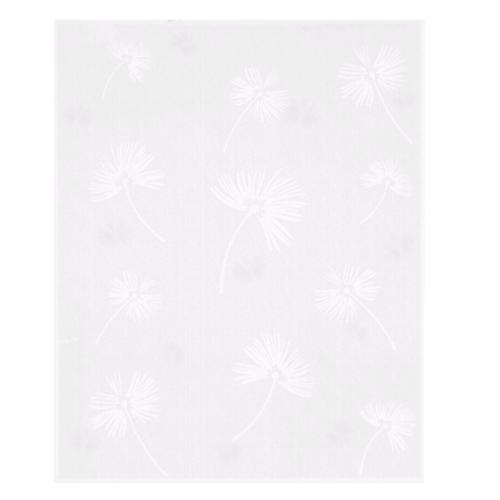 Duragres กระเบื้องปูผนัง-8x10 ดอกหญ้าขาว A. LS-111 ผิวเงา ( Glossy ) สีขาว