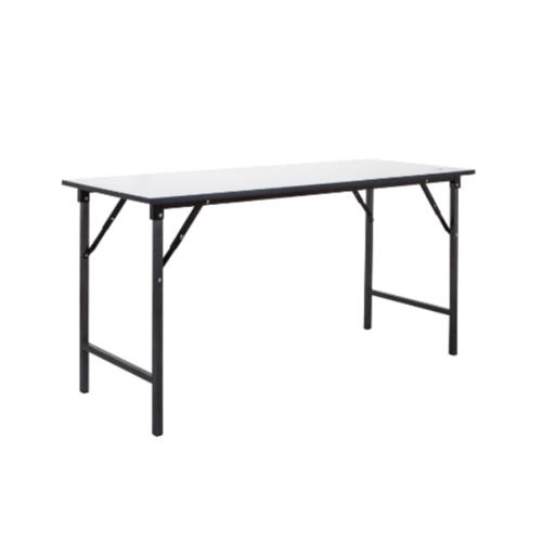 SBL โต๊ะอเนกประสงค์ขาพับได้ ขนาด 60x120x75 ซม.ขาพ่นดำ TF-2448S  สีขาว
