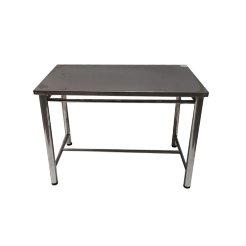 Sane โต๊ะสเตนเลส (ถอดขาประกอบได้) 110*70.2*75.7cm. สีเงิน BXGZ01