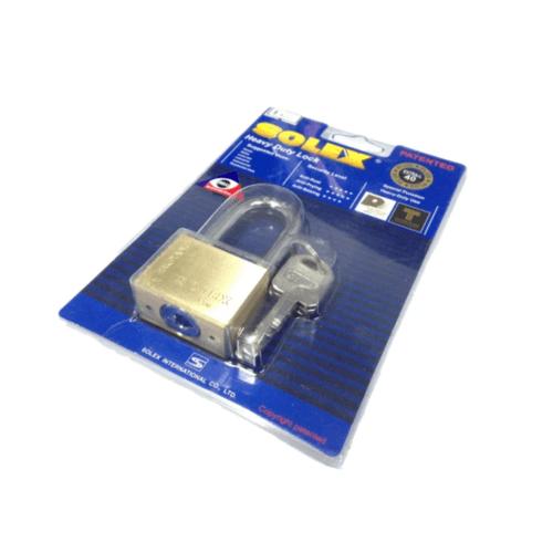 SOLEX กุญแจคล้อง  EXTRA-NEWPLUSขนาด 50MM. สีทอง